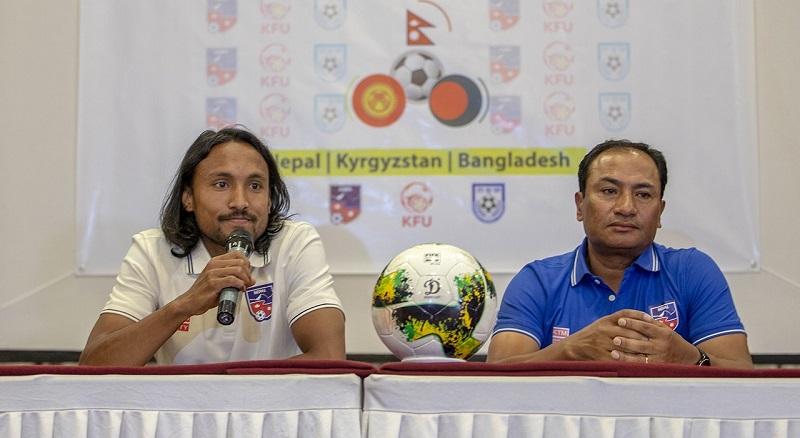 त्रिदेशीय फुटबल आजदेखि :नेपालको कप्तानी किरण चेम्जोङले गर्ने