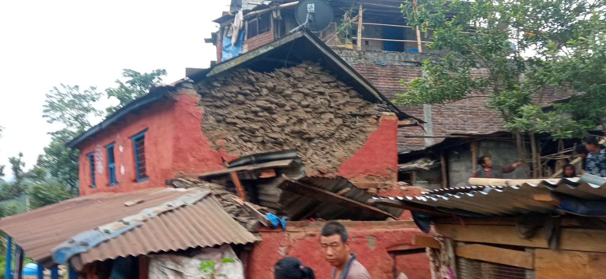 लमजुङ भुकम्प : 'भागाभाग भयो, पुराना घरहरु भत्किएको बाहेक थप क्षतिको विवरण आउन बाँकी