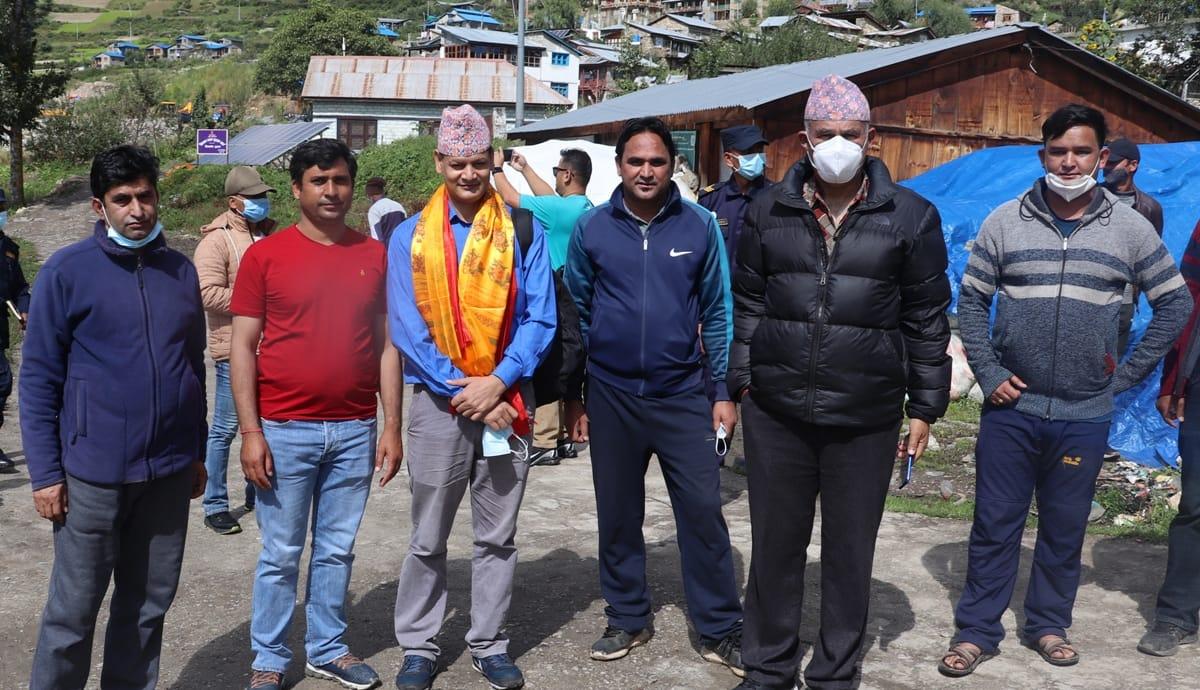 सीमा अध्ययन टोली हुम्लामाको सिमकोट पुग्यो ; १५ वटा सीमास्तभमध्ये १३ वटा सीमास्तम्भको अध्ययन गर्ने